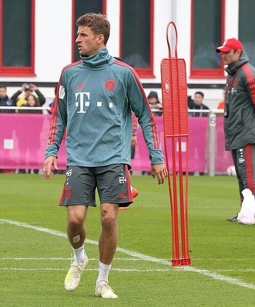 Thomas Muller podczas treningu